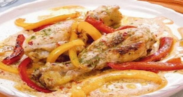 وصفة لطبق الدجاج بالطماطم والكريمة